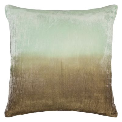 Seaweed Dip Dyed Velvet Pillow by Kevin O'Brien Studio $214.00