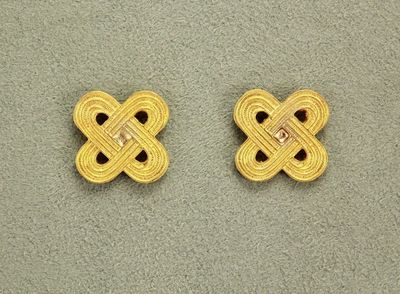 18 mm Celtic Knot Hand Painted Gold Magnetic Earrings $35.00 Designed by LauraWilson.com