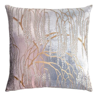 Willow Metallic Moonstone Velvet Pillow by Kevin O'Brien Studio $311.00
