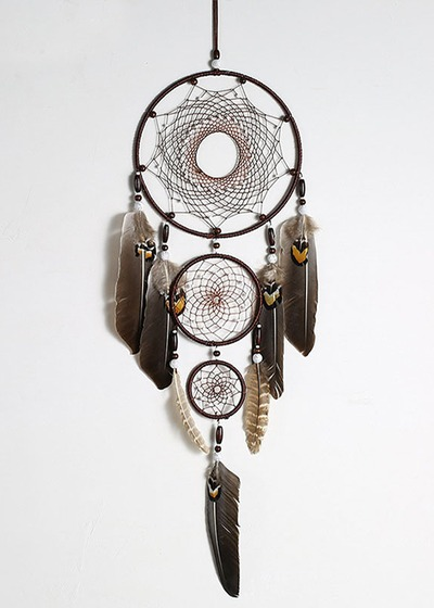 Eagle Feather Indoor Pendant Indian Dream Catcher $28.00