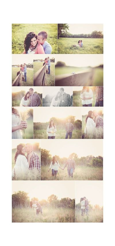 engagement photo ideas. love the field they are in and the lighting.
