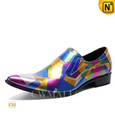 Custom Made | Mens Colorful Printed Leather Loafer CW719123 | CWMALLS.COM