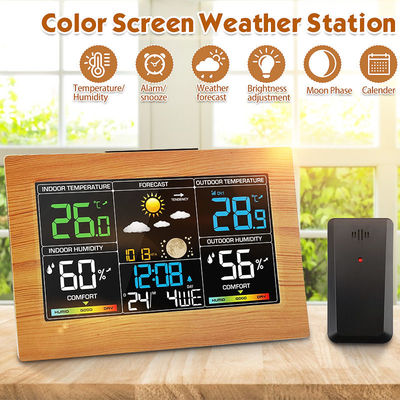 Digoo Digital LCD Indoor & Outdoor Weather Station Clock Calendar Thermometer Hygrometer Temperature Humidity Remote Sensor