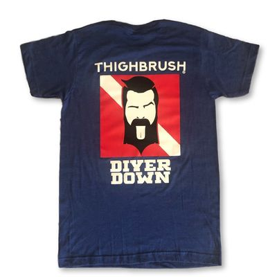 "LIMITED EDITION - THIGHBRUSH® - ""Diver Down"" - Men's T-Shirt - Heather Blue"