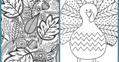 Free Fall Adult Coloring Pages / Thanksgiving Ideas - Juxtapost