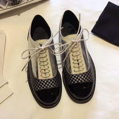 2017 New Spring Summer Shoes Woman Chic Lowland Oxfords Round Toe Lace Up Casual Mujer Leather Shoes Luxury Design Dress Party $87.36