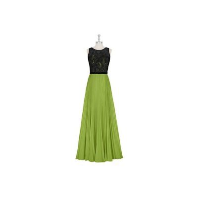 Clover Azazie Mayra - Floor Length Chiffon And Lace Scoop Illusion Dress - Simple Bridesmaid Dresses & Easy Wedding Dresses