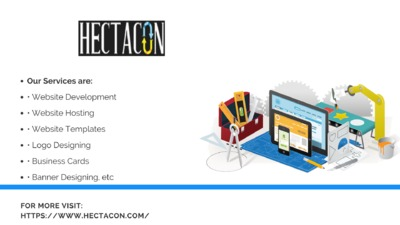 HectaCon- Web Development & Design Company, Get Special Discount on entire services at your first project.