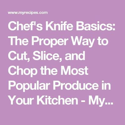 Think about it: Who taught you how to use a kitchen knife? It's likely you picked up a few skills through watching someone els...