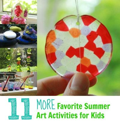 11 More Favorite Summer Art Activities For Kids Fun Ideas
