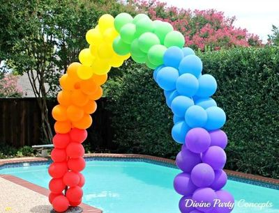 DIY...How to make a balloon arch for any party theme using PVC pipe. Instructions included.