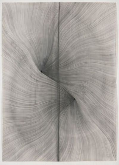 arpeggia: Thomas Müller-Untitled, 2012, pencil, ink, acrylic paint on Fabriano paper, 196 x 140cm