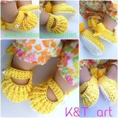 Crochet Baby Shoes - Tutorial 4U / /hf / crochet ideas and ...