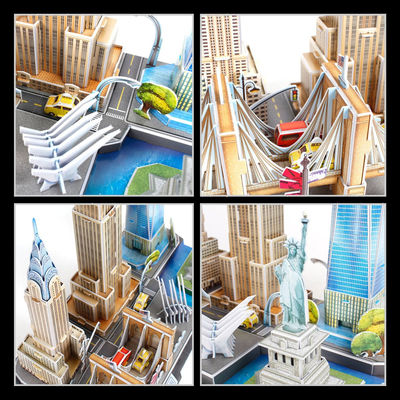 3D Puzzle New York City Building Model Kits Collection Toys $41.30