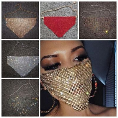 Elegant Diamond Mask Women Party Hallowma Face Mask Luxury Sexy Half Face Party Dance Masks Summer Facial Accessories YP759