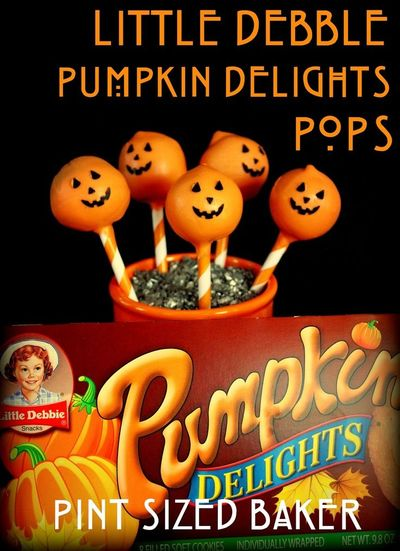 Have some fun this Halloween with some Little Debbie Pumpkin Delights Cake Pops! No need to bake a cake - just use the cakes and make some memories!