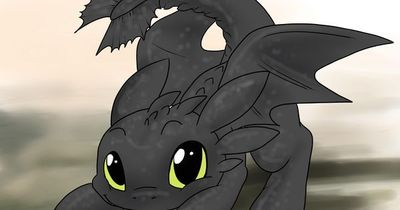 Learn two ways on how to draw Toothless from How to Train Your Dragon! You can do this by following these simple steps. Draw a medium circle near the topmost area of the paper.