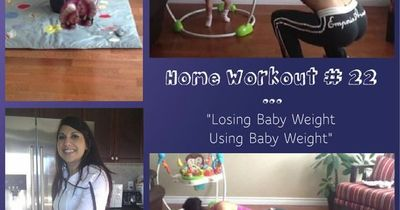 This is a 20-minute HIIT home workout for mom's trying to lose the baby weight. No equipment required, except for your baby! If you don't have a baby, don't panic. Just use a medicine ball or dumbbells.