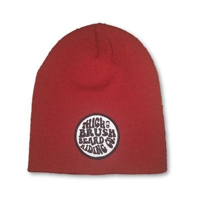 THIGHBRUSH® BEARD RIDING COMPANY Beanies - Patch on Front - Red $15.00
