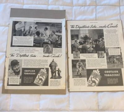 Two 1936 Camel Cigarettes Advertisement $10.00