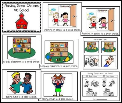 making good choices class book and pocket chart activity i preschool items juxtapost. Black Bedroom Furniture Sets. Home Design Ideas