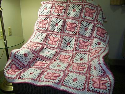 Ravelry: Crochet Butterfly Afghan pattern by Mary Jane ...