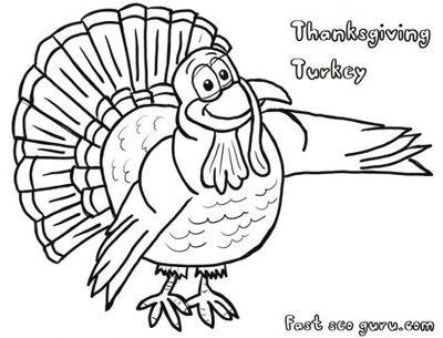 Free printable thanksgiving turkeys coloring pages for kids ...