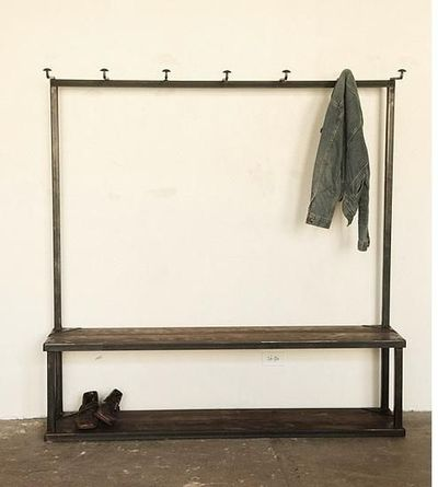 Strawser & Smith's Coat Rack Bench resolves several entryway issues at once, offering a one-stop solution for coat and bag storage as well as a ben