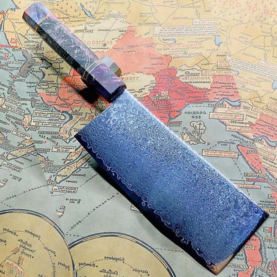 Chinese Cleaver Clad Steel Chef Knife Slicing Kitchen Knives Home Cooking Tool $59.30