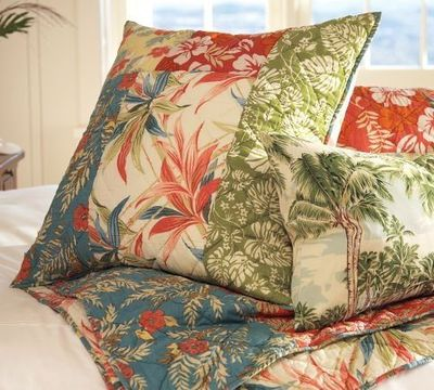 The Pottery Barn Beach Palm Patchwork Quilt Amp Sham Knits
