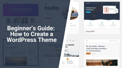 Here is our beginner's guide to creating a WordPress theme. It won't teach you how to design a new best-selling theme, but it's the perfect start.