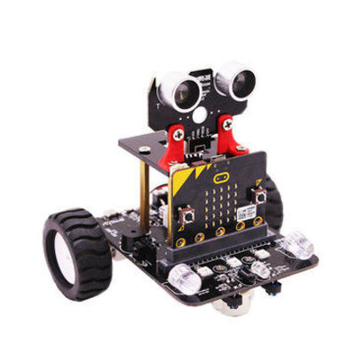Yahboom Programable Wheeled Smart Robot Car DIY Kit for Microbit Support Educational Graphical Programming with Instruction Manual