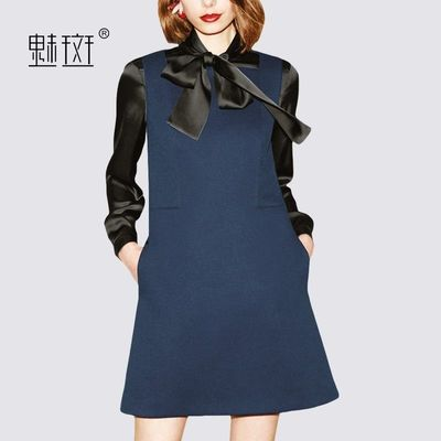 Attractive Split Front Bow Slimming 9/10 Sleeves Pencil Skirt Dress - Bonny YZOZO Boutique Store
