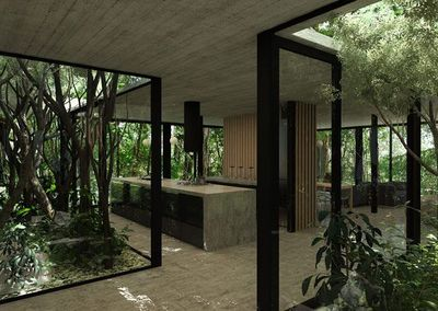 I can't tell if these images of an amazing modern glass house by Luciano Kruk are renders or not. I usually don't show renderings but I think this project