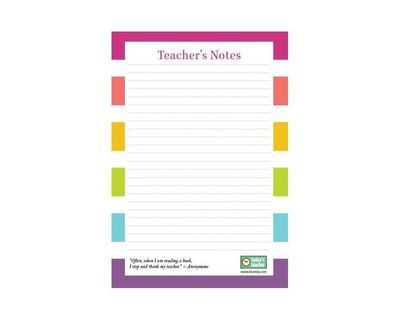 Today's Teacher 5.5 x 8.5 Jotter Notes - I love this notepad for leaving notes to the teacher after my sub day.