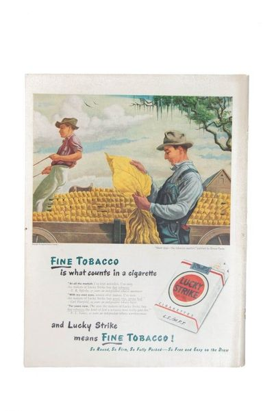 1947 Lucky Strike Cigarette Ad Magazine Advertisement Wall Art $11.00