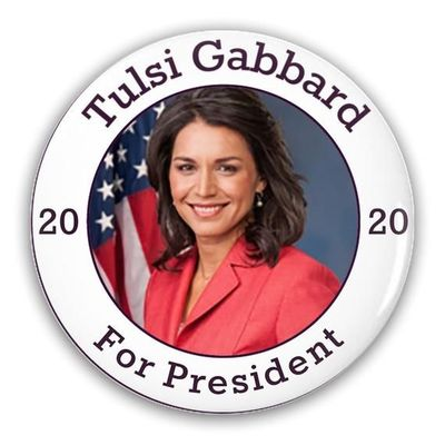 Pin-Back Buttons Tulsi Gabbard For President 2020 $12.00