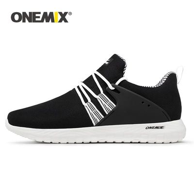 ONEMIX Big Size Sneakers Men Casual Shoes 2019 New Lightweight Breathable Flat Sports $100.80