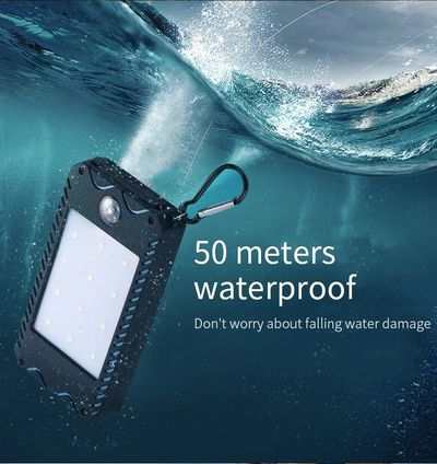 Bakeey DIY 10000mAh LED Flashlight Portable Solar Fast Charging Power Bank Case For iPhone XS 11Pro Huawei P30 Pro Mate 30 S20 5G