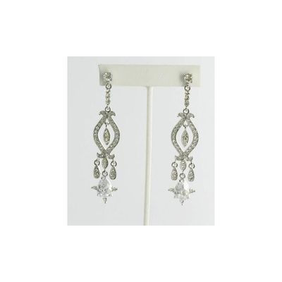 Helens Heart Earrings JE-E06539-S-Clear Helen's Heart Earrings - Rich Your Wedding Day