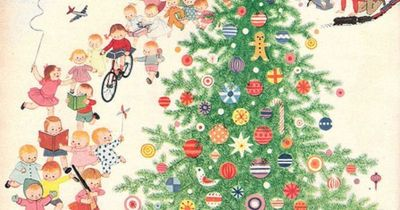 twas the night before christmas a playful illustration by gyo fujikawa for family circle