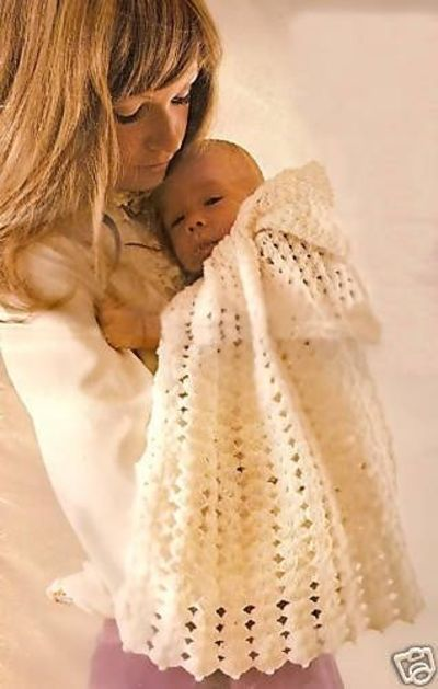 Snowflake Hooded Cape Baby Crochet Pattern eBay ...