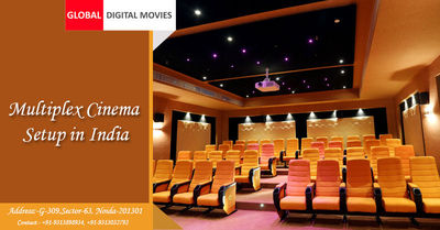 Global Digital Movies is specialized service provider for modernized Multiplex Cinema Setup in India. We can start our services in Metro Cities and Big Towns with highest rates of return. Know more Call: +91-9313898934 or Visit https://www.globaldigitalmo...