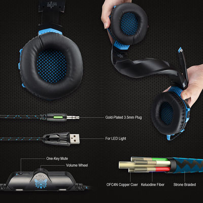 ONIKUMA K2A Gaming Headphone LED Light Noise Cancelling Wire Over Ear Stereo Headset with Mic