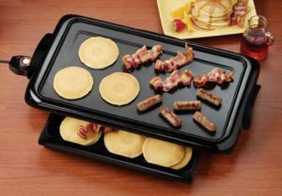 Griddle with Warming Drawer :) Sounds Handy!