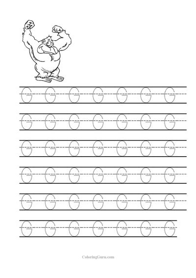 Free Printable Tracing letter G worksheets for preschool ...