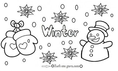 Free Printable Winter Snowman coloring pages for kids  Printable