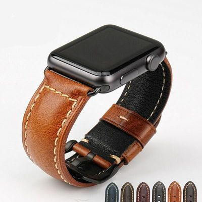 Genuine Leather watch strap for Apple series 4 strap 40mm 38mm $40.99