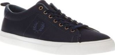 Fred Perry Navy Underspin Nylon Mens Trainers If you want your sports slick to be clean and simple, feast your eyes on the Fred Perry Underspin. This stylish tennis shoe features a navy nylon upper, joined with embroidered branding at the midsect http://w...