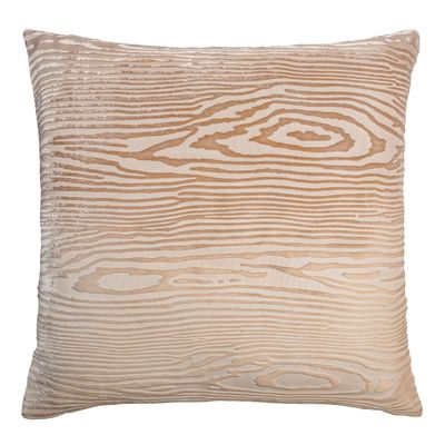 Latte Woodgrain Velvet Pillow by Kevin O'Brien Studio $311.00